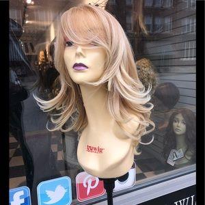 Blonde wispy Layer new skin top wig 2019 hairstyle